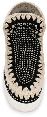 Mou Round Toe Embellished Eskimo Sneakers