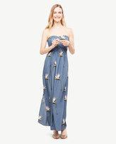 Ann Taylor Petite Paradise Strapless Maxi Dress