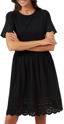 French Connection Broderie Jersey Dress