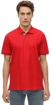 Burberry Cotton Pique Polo Shirt W/ Check Detail