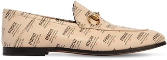 Gucci Brixton Logo Printed Leather Loafers