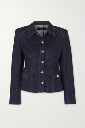 Dolce & Gabbana Denim Peplum Jacket - Navy