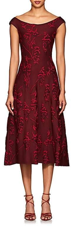 Zac Posen Women's Floral Jacquard Flared Dress