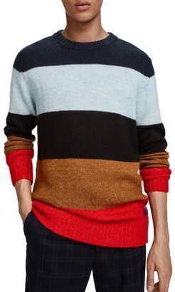 Scotch & Soda Colorblock Stripe Regular Fit Pullover
