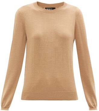 A.P.C. Savannah Merino Wool Sweater - Womens - Beige