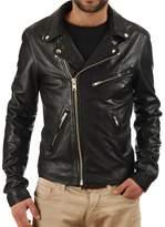 London Craze LondonCraze Men's Leather Jacket 05 S