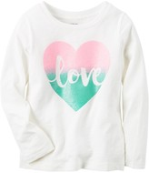 Carter's Baby Girl Long Sleeve Jersey Graphic Tee