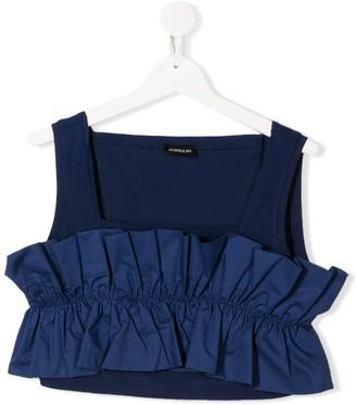 MonnaLisa TEEN ruffle-panel sleeveless top