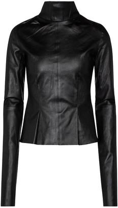 Maticevski Experience turtleneck leather top