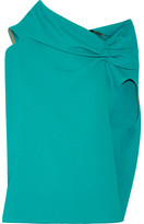 Roland Mouret Eugene Open-back Wool-crepe Top - Teal