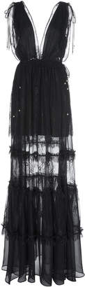 Alexis Umbria Tiered Lace Gown