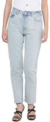 Only Emily High-Waist Cropped Straight Fit Jeans Lt