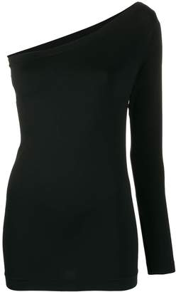 Helmut Lang one-shoulder knitted top