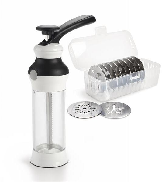 OXO Square Good Grips Cookie Press With Disk Storage Case