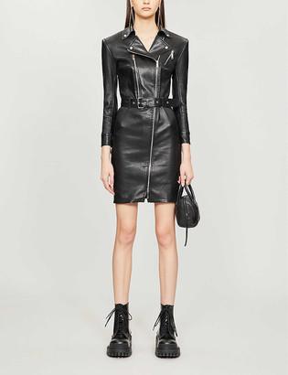Jitrois Kristen belted leather dress