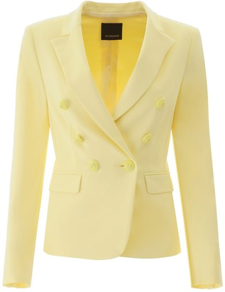 Pinko Double-Breasted Fitted Blazer