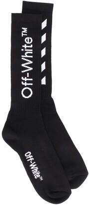 Off-White Logo Print Socks