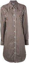 Dondup gingham tunic shirt