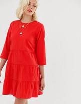 Asos Design DESIGN tiered mini smock dress in seersucker