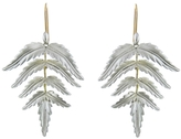 Annette Ferdinandsen Small Sterling Silver Fern Earrings