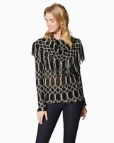 Charming charlie Fringe Around Sweater