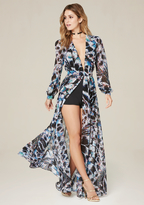 Bebe Petite Print Shorts Gown