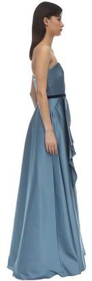 Marchesa Notte Strapless Satin Gown