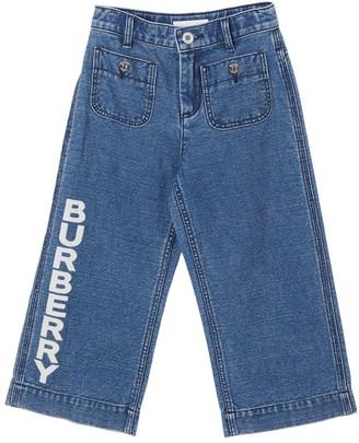 Burberry Cotton & Linen Denim Pants