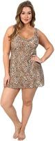 Hanky Panky Plus Size Leopard Nouveau V-Neck Chemise Women's Sleeveless