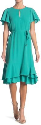Maggy London Flutter Sleeve Dress