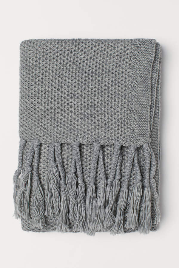 H&M Knit Throw with Fringe