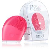 BeneU® Makeup Facial Brush Cleaner Face Massager Sonic Silicone Vibrating Rechargeable Electric Waterproof Cleansing for Face Skin Care, Face Polish Scrub, Anti-Aging, Acid, Peels, Reduce Acne(Pink)