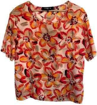 Paule Ka Orange Silk Top for Women