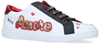 Dolce & Gabbana Kids Sequin Amore Sneakers