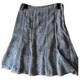 Armani Collezioni Grey Silk Skirt for Women