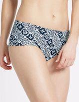 Marks and Spencer Tile Print Boyshort Bikini Bottoms