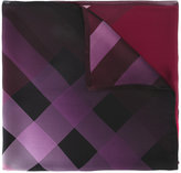 Burberry checkered scarf - women - Mulberry Silk - One Size