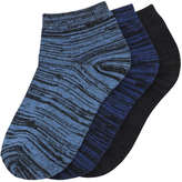 Joe Fresh Kid Boys' 3 Pack Space Dye Socks, JF Midnight Blue (Size 3-6)