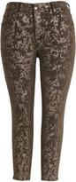 Melissa McCarthy Gunmetal Foil Skinny Jeans - Plus