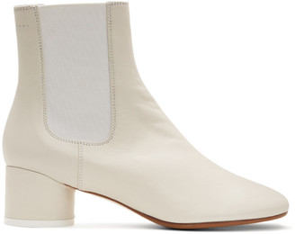 MM6 MAISON MARGIELA Off-White Pull-On Chelsea Boots