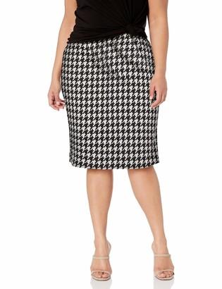 Star Vixen Women's Plus-Size Below-Knee Pencil Skirt with Back Slit