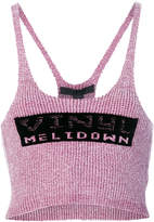 Alexander Wang vinyl meltdown cropped top