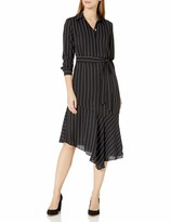 Thumbnail for your product : Nanette Lepore Women's Long Sleeve Dress with Collar and Asymmetrical Hemline