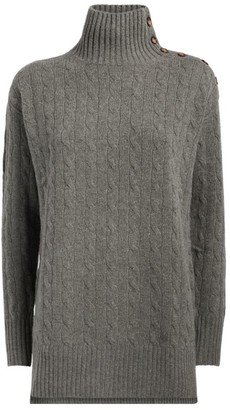 Polo Ralph Lauren Wool-Cashmere Cable-Knit Sweater