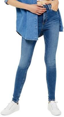 Topshop Mid Blue Jamie Jeans 34-Inch Leg