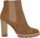 The Kooples Anne suede heeled ankle boots