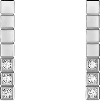 Chopard White Gold and Diamond Ice Cube Pure Earrings