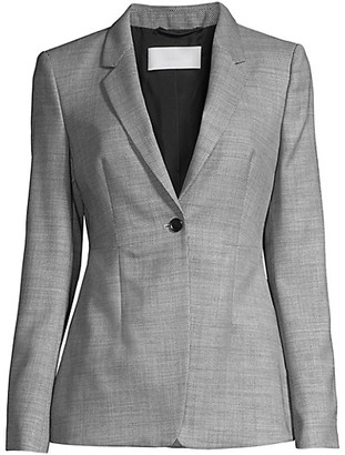 HUGO BOSS Jalaia Birdseye Stretch Wool Blend Jacket