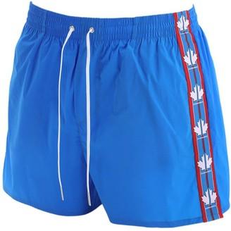Dsquared2 Underwear Maple Leaf Band Nylon Swim Shorts