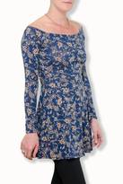 En Creme Blue Paisley Dress